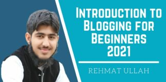 Introduction To Blogging For Beginners 2021